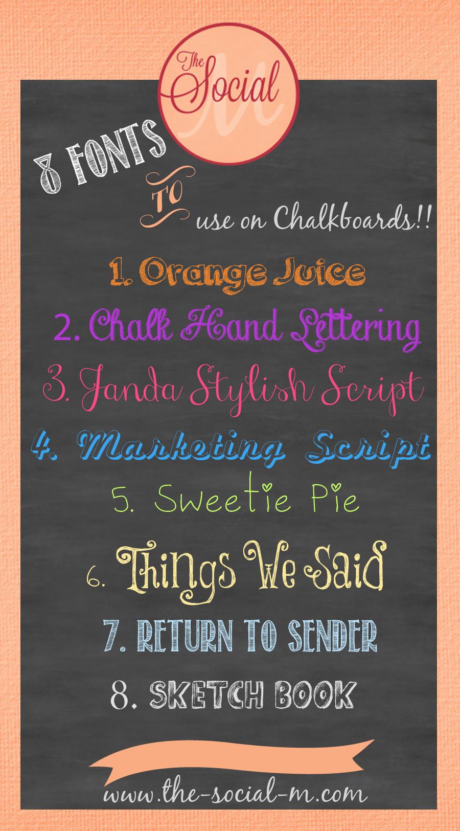 free chalkboard fonts  freebies
